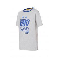 Детская серая футболка ФК «Динамо» Киев, New Balance